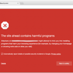 Sitios maliciosos detectados por Chrome y Google Safe Browsing – Vulnerabilidad WordPress, Joomla y otros CMS – Arpanet1957 – Fake flash